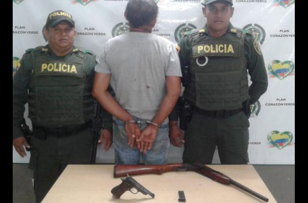 Daniel Antonio Chávez Tapias, capturado con arma de fuego.