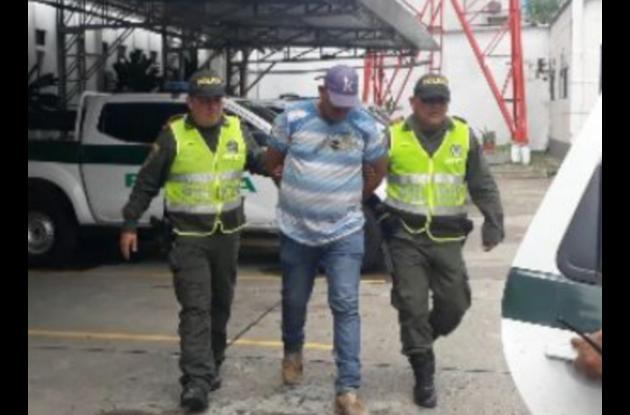 Javier Manuel Guillín Pérez, capturado con arma de fuego.