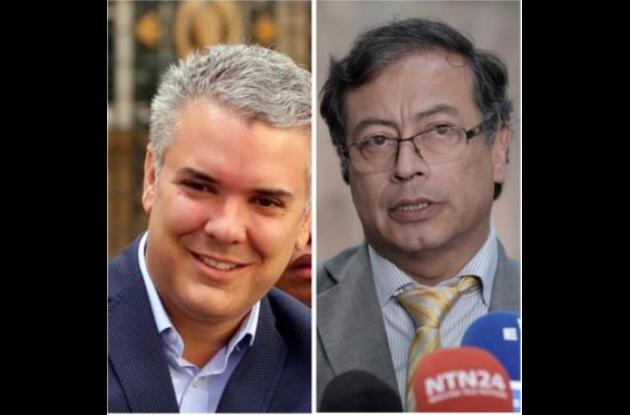 Los candidatos a la presidencia 2018-2022 Iván Duque y Gustavo Petro.