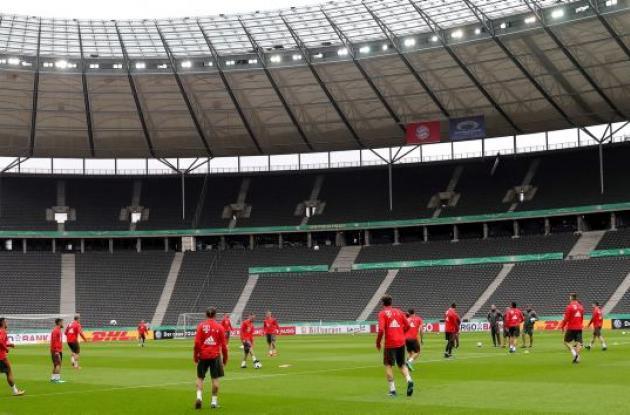 El Bayern entrena en Berlín para la final de la Copa Alemania