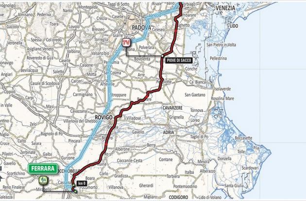 Planimetría etapa 13 del Giro de Italia 2018