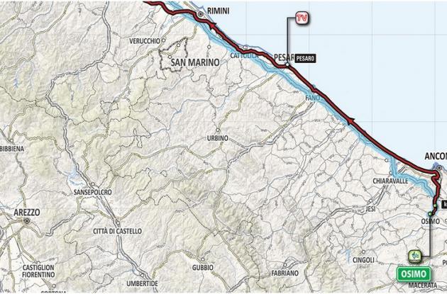 Etapa 12 del Giro de Italia.