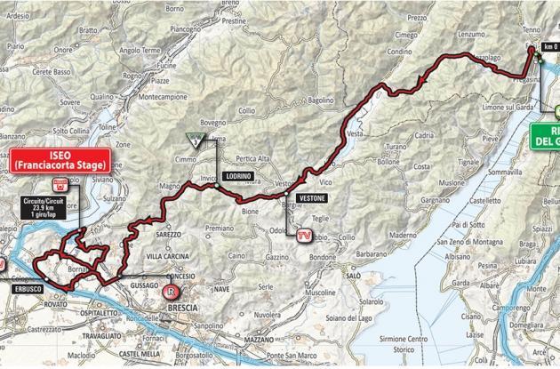 Planimetría etapa 17 del Giro de Italia 2018.