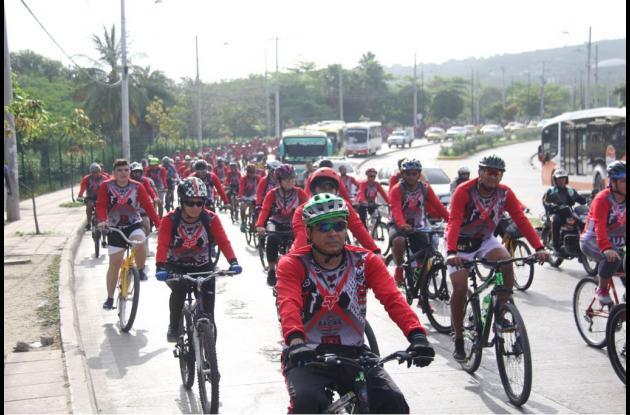 Jornada por el uso de la bicicleta en Cartagena
