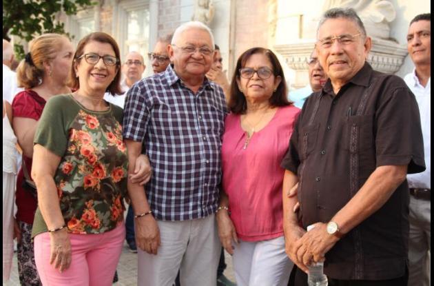 Amparo Castellar, Alfonso Vásquez, Fanny Vásquez y William Solano.