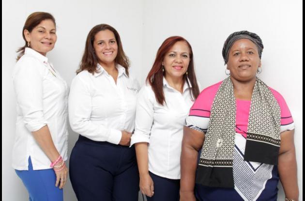 Ana Luz Guerra, Liliana Maza, Gissela Castro y Yoise Zúñiga.