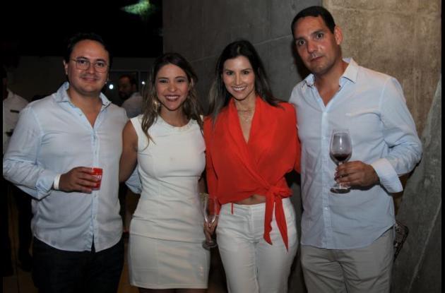 Andrés Vargas, Verónica Sumoza, Carolina Bernal y Jaime Torres.