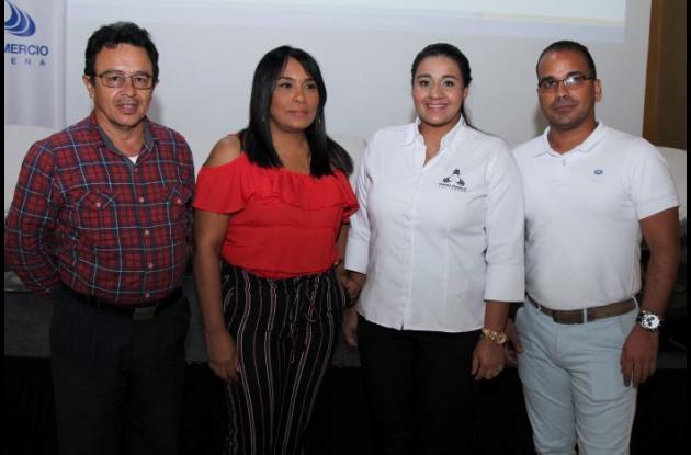 Ángel Durán, Rocío Duran, Sandra González y Harold Díaz.