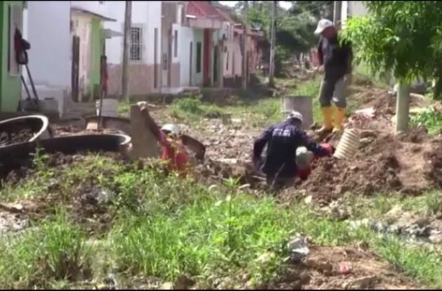 Calles destapadas en El Carmen