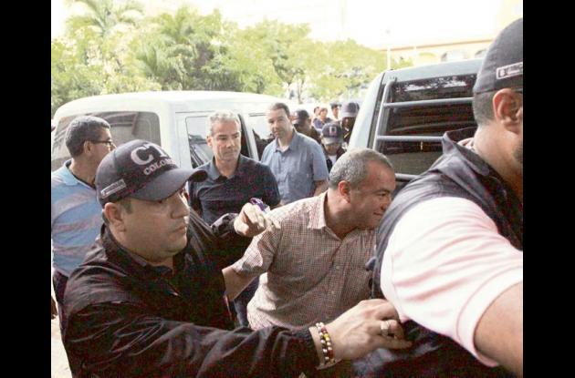 Capturados en caso Aquarela llegan al complejo judicial de Cartagena.
