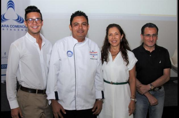 Carlos Jiménez, Esneider Ortega, Nancy Saavedra y Antonio Galati.
