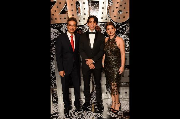 César Rivero, Camilo Rivero y María Eugenia Herrera.