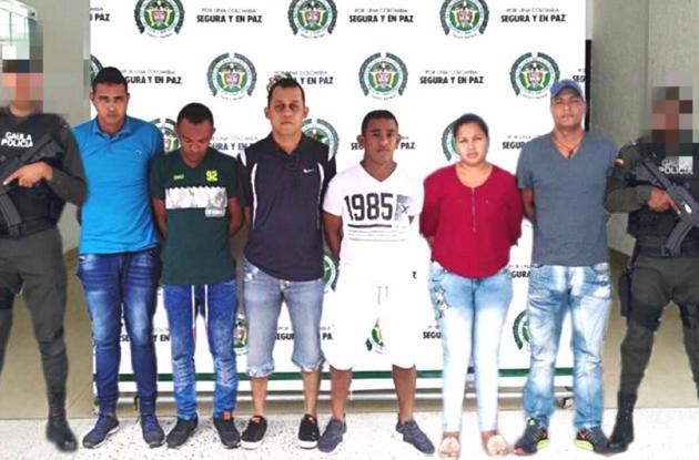 """Wilmar Ortiz Sánchez, alias """"Esteban""""; Ramón López Mazo, alias """"Tombo""""; Edinson Becerra Barroso, alias """"El Mico""""; Luis Martínez Mejía, alias """"El Torero""""; Yemil Rojas Herrera y Maideth Galvis Navarro."""