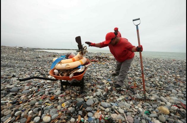 En la limpieza de la playa también participaron voluntarios de la Policía Nacional del Perú (PNP), el Instituto del Mar del Perú (Imarpe), la Dirección de Capitanías y Guardacostas (Dicapi) de la Marina de Guerra del Perú, el Ejército del Perú y la Municipalidad Provincial del Callao, donde se encuentra la playa de Carpayo.