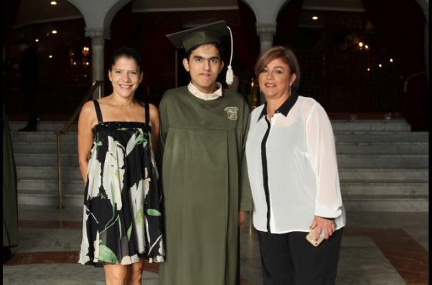 Cristina ortiz, Marcelo Rodríguez y Adriana Torres.