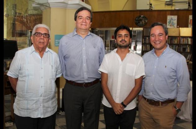 Darío Morón Díaz, Alberto Roa, Leonardo Bonilla y Daniel Toro.