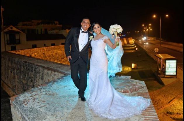 Los recién casados, Deiby  Salgado y Gina Mora.