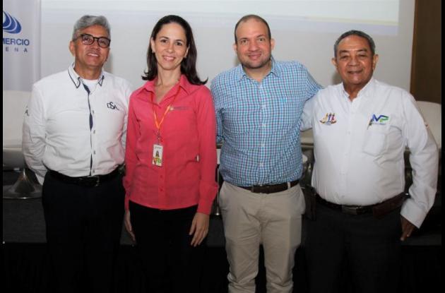 Didier Sánchez, Bibiana Pertuz, Nadir Hassan y Norberto Tordecilla.