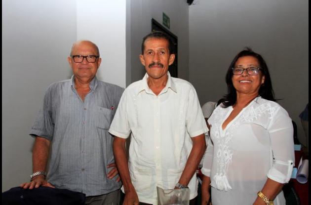 Enrique Brieva, Orlando Ramos y Carmen Jurado.