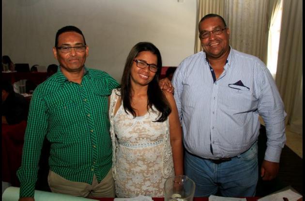 Enrique Villadiego, Patricia Peña y Hernán Corcho.