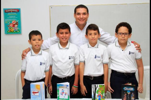 Erasmo Herrera, Juan Osorio, Santiago Restrepo, Juan Viñas y Carlos Manrique.