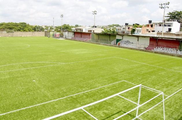 Estadio de fútbol de Mochila, en Sincelejo.