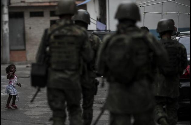 Operativos policiales en Río de Janeiro.