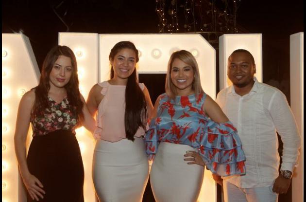 Johana Guzmán, Gina Bolaños, Yuly Ahumada y Nadir Ortega.