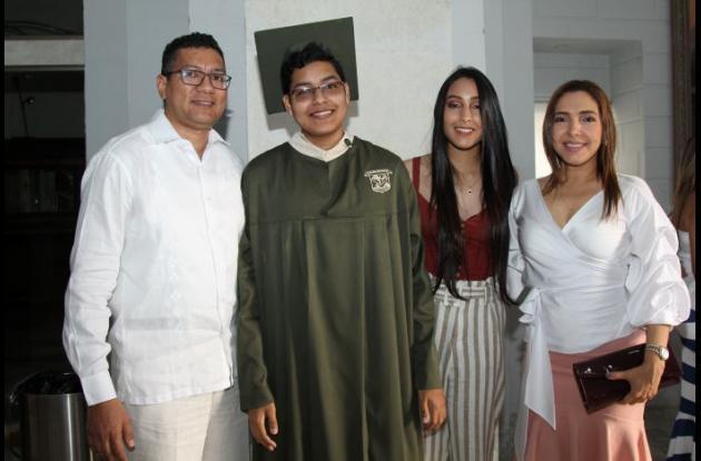 José Berrío, Iván Berrío, María José Berrío y Lizbet Altamar.