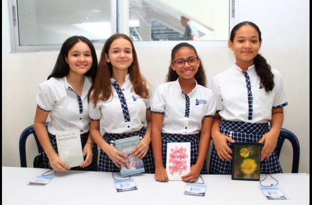 Karen Ríos, Mariana Rodríguez, María José Gallego y Karol Campaz.