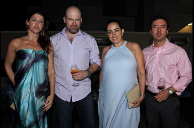 Layla Fayad, Felipe Lloreda, Alejandra Ospina y jorge Romero.