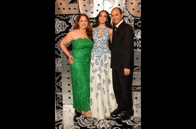 Linner Gélvez, Angella Páez y César Páez.