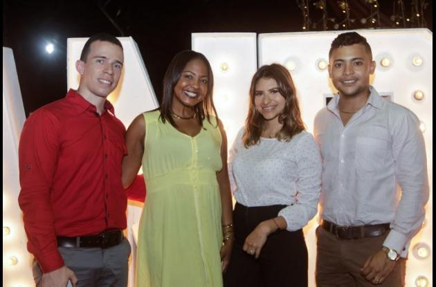 Luis Buelvas, Daisy Silva, Marié Quesada y Cristian Pianeta.