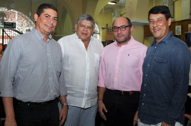 Luis Fernando Arango, Omar Frieri, Luis Percy y Hernando Baquero.