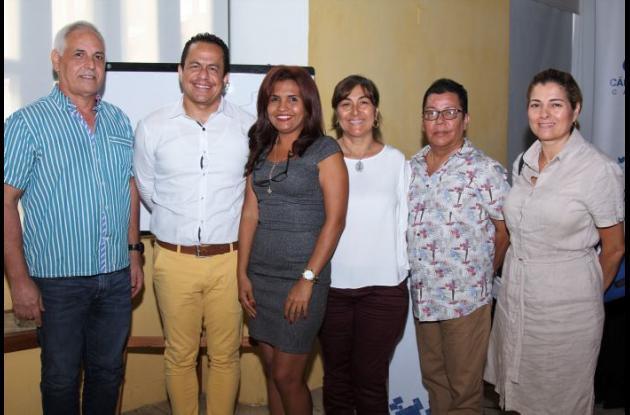 Luis Miguel Muñoz, Samuel Brunal, Patricia Ocampo, Elvia Palacio, Édgar Rincón y Claudia Ocampo.