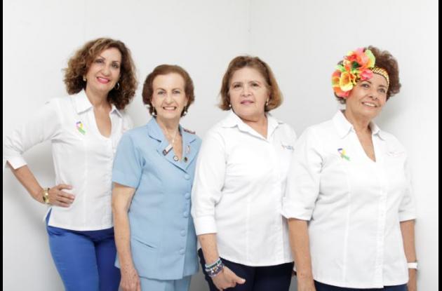 Luz Marina Verá, Vicky de Kuperman, Janith Bula e Irma Elena Sojo.