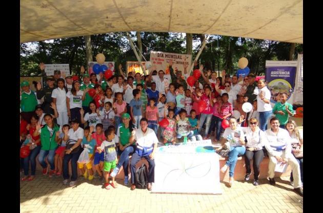 Actividad del ICBF con los niños