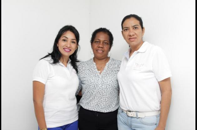 Olga Rodríguez, María Sepúlveda y Patricia Hernández.