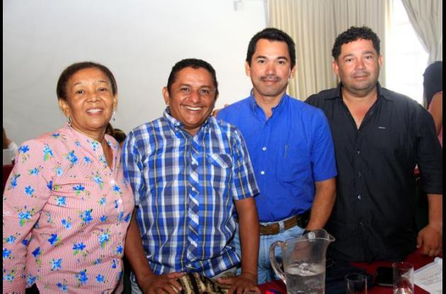 Pabla Torres, Gerardo Ríos, Iván Pérez y Fernando Alfaro.