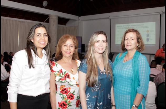 Paola Mercado, Carmeza Isaza, Roxana López y María Bernarda Zapata.