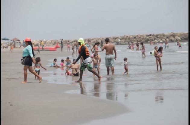 Playas y comerciantes