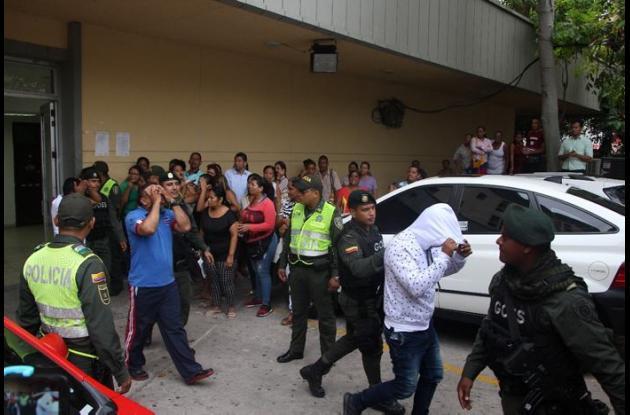 Policías capturados por droga