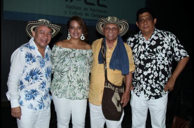 Ramoncito Vargas, Bertha Arnedo, Adolfo Pacheco y Juan Carlos Díaz.