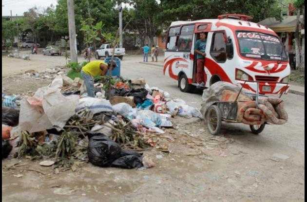 Basuras acumuladas en Cartagena