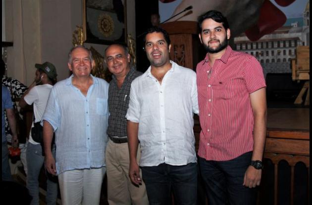 Reginaldo Bray, Marlon Pereira Gazabón, Alfredo Bray y Marlon Pereira Bray.