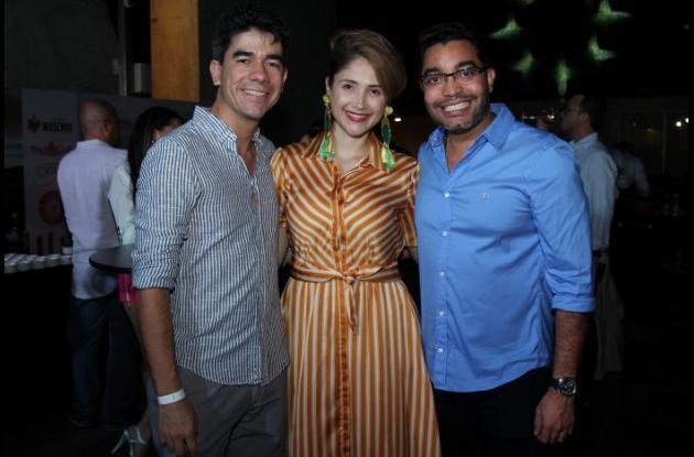 Ricardo Giraldo, Clara Montealegre y Samir Hazzime.
