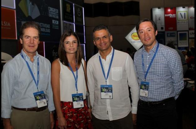 Roberto Moreno Mejía, Cristina Levano, Mario Ciardelli y Daniel Galvis.