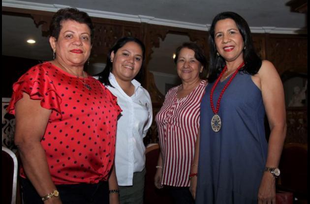 Rocío Castillo, Ruby Mutis, Pabli Andrade y Delia Martelo.