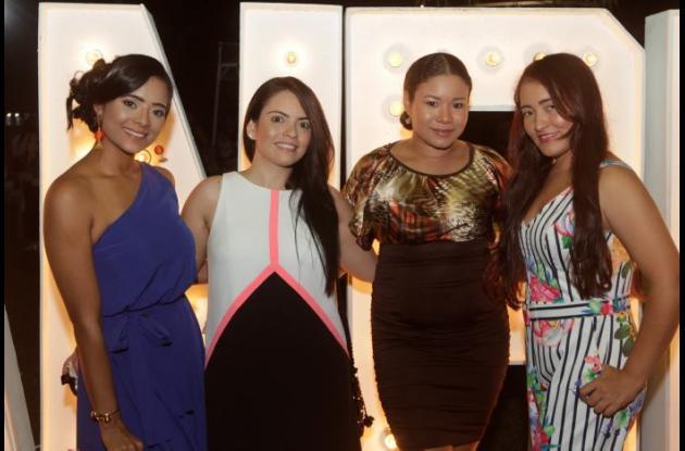 Rosa Muñoz, Ana María Arenas, Xiomara López y Karen Araújo.