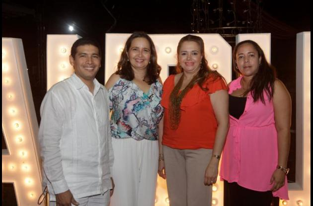 Sergio Montoya, Nohora Ochoa, Erika Magri y Nacira Ayos.